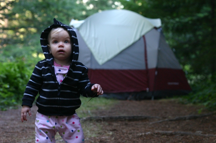 Family camping tent toddler Oregon