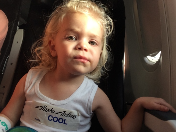 Flying with a toddler Alaska Air